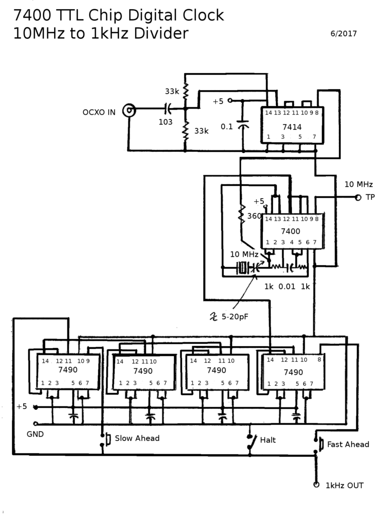 7490-clock-10Mhz-to-1kHz-schematic